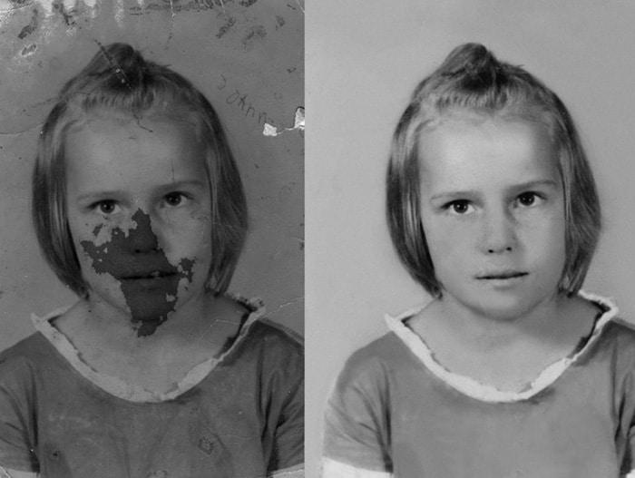 Medium photo restoration